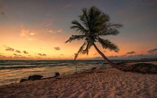 Фото бесплатно закат, песок, море