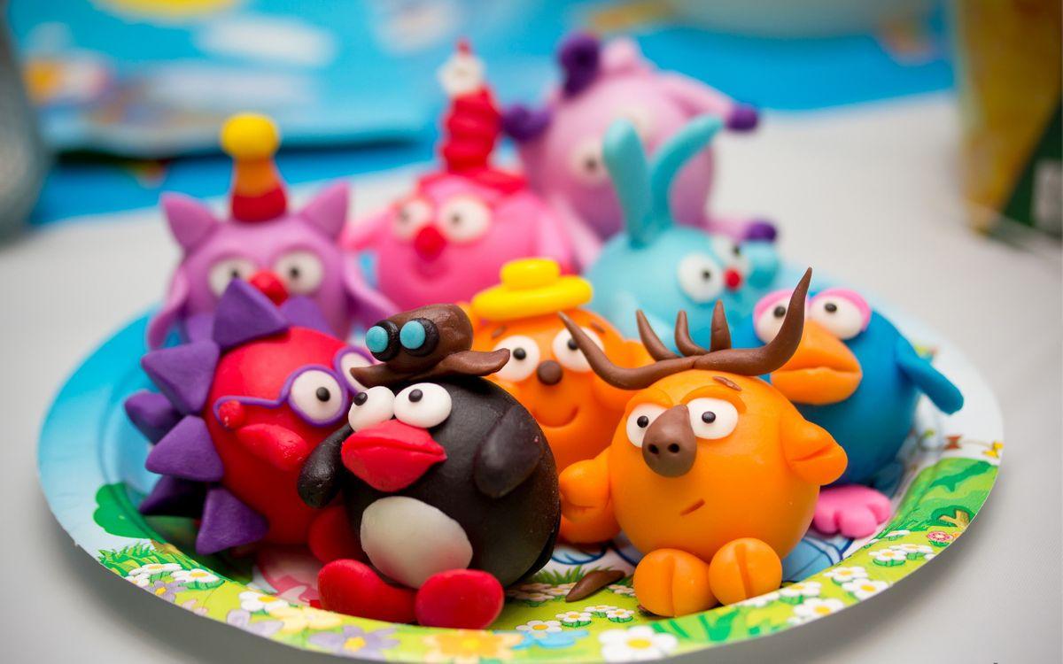 Фото бесплатно поднос, игрушки, смешарики - на рабочий стол