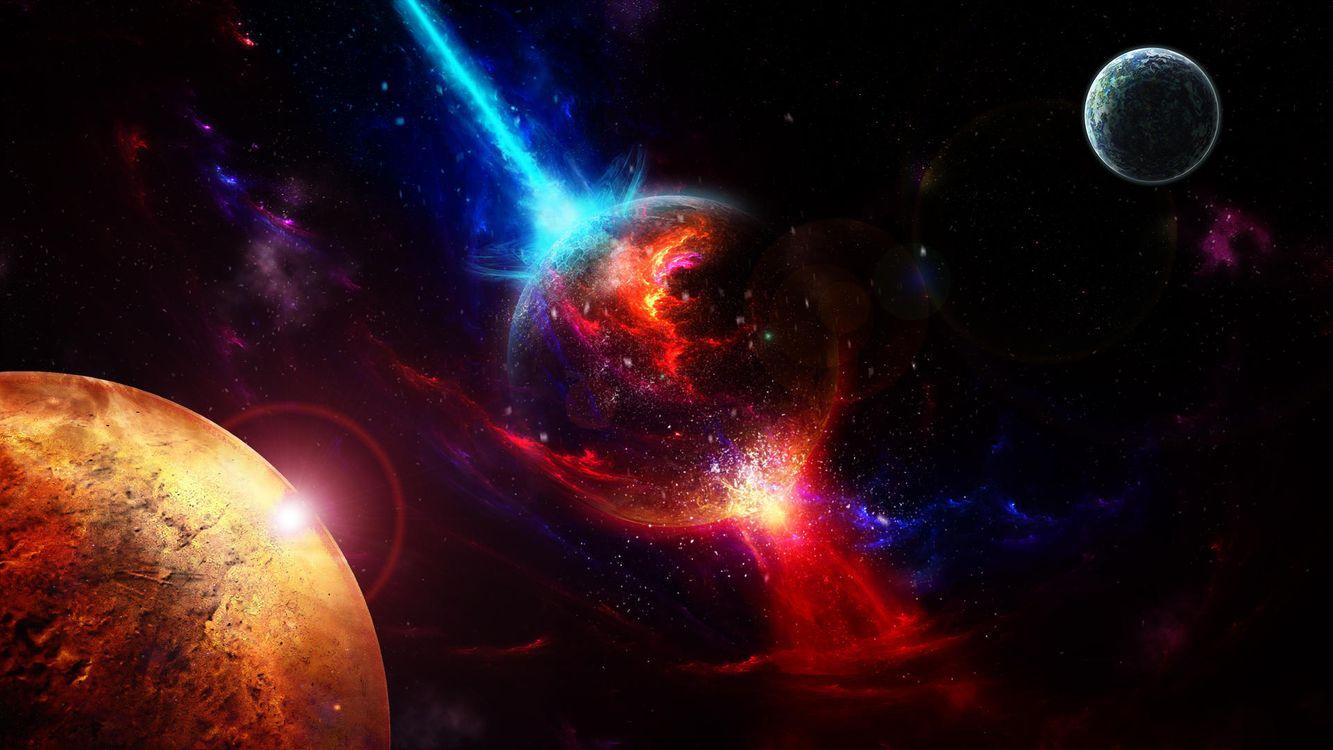 Скачать бесплатно звёзды, планеты заставку