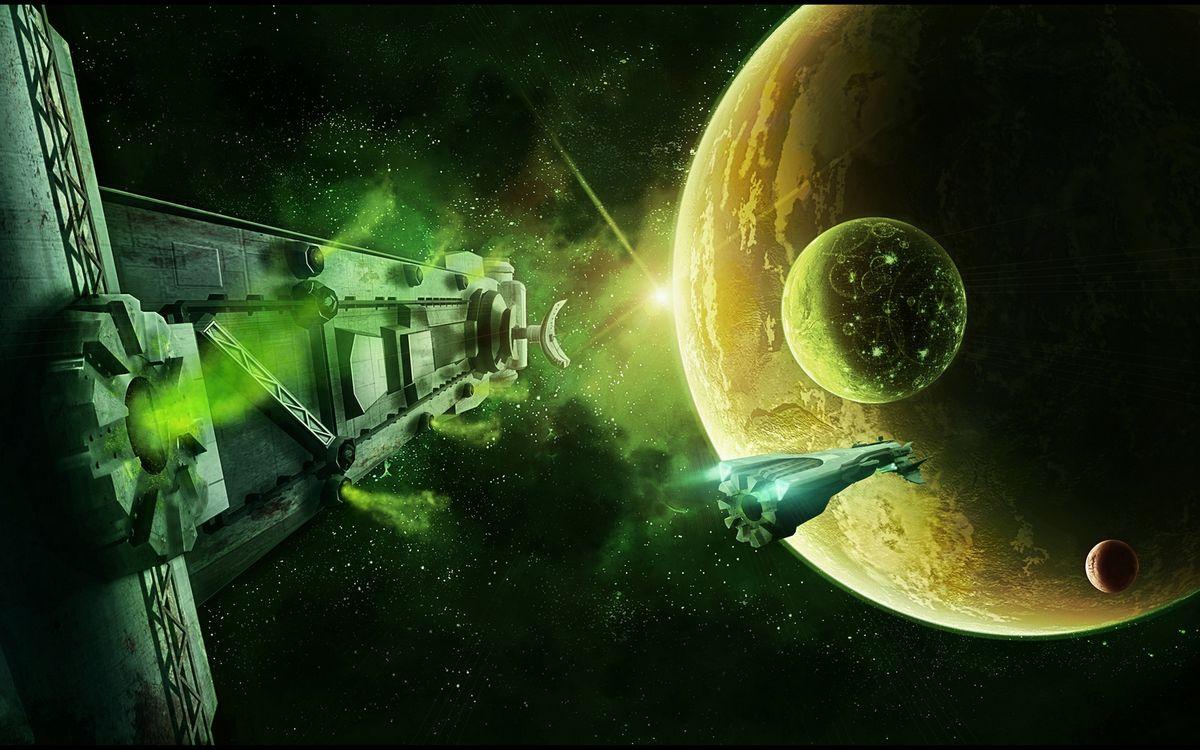 Фото бесплатно космос, космические корабли, планеты - на рабочий стол