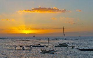 Фото бесплатно морской восход солнца, лодки, пристань