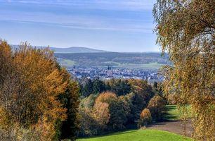 Вайден, Oberpfalz, Bavaria, Германия, осень