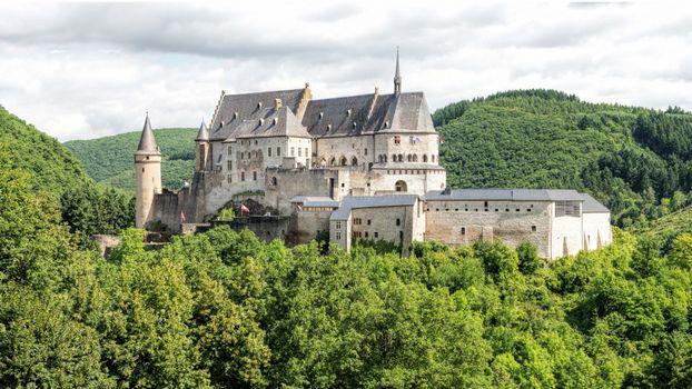 Бесплатные фото замок,Вианден,Люксембург,деревья,лес,пейзаж