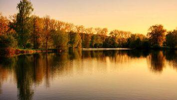 Бесплатные фото озеро,гладь,отражение,берега,деревья,кустарник,трава