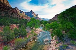 Photo free river, Virgin River, Zion National Park