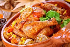 Фото бесплатно овощи, курица, зелень