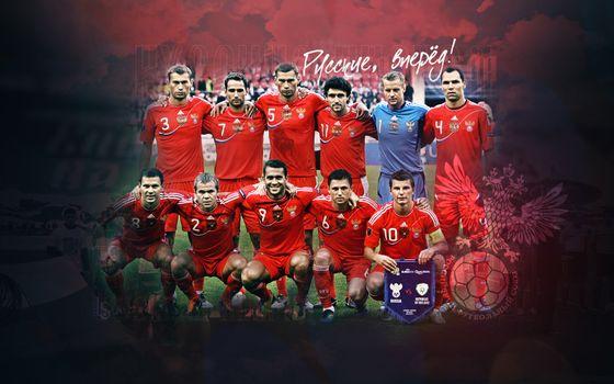 Бесплатные фото сборная России,футбол,форма,фото,надпись,герб