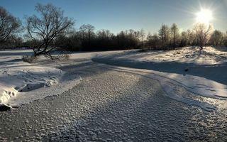 Фото бесплатно солнце, снег, лед
