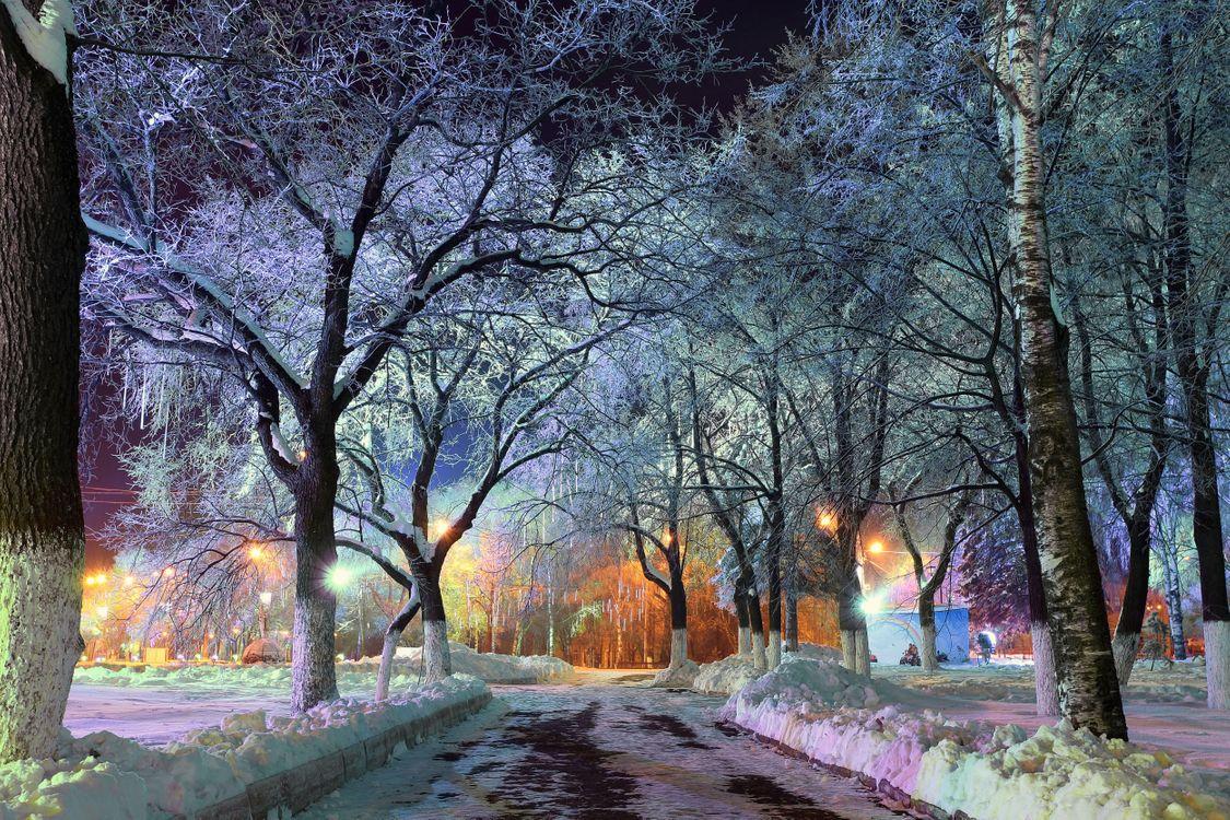 Фото бесплатно Центральный парк, Нью-Йорк, вечер, огни, иллюминация, город