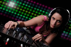 Photo free headphones, girl DJ, mood