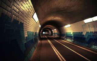 Фото бесплатно тоннель, дорога, асфальт