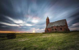 Бесплатные фото Закат,часовня,Восточный Йоркшир,Англия