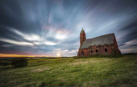Photo free Sunset, chapel, East Yorkshire
