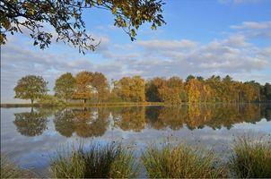Фото бесплатно озеро, водоём, осень