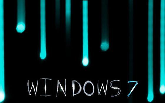 Бесплатные фото виндовс 7,операционная система,заставка,надпись,подтеки,свечение