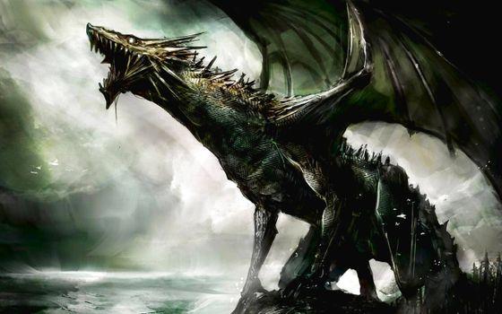 Заставка крылья, дракон на рабочий стол