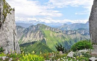 Фото бесплатно трава, небо, камни