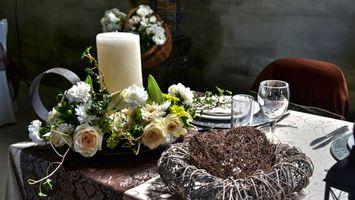 Бесплатные фото сервировка,декор,стол,цветы
