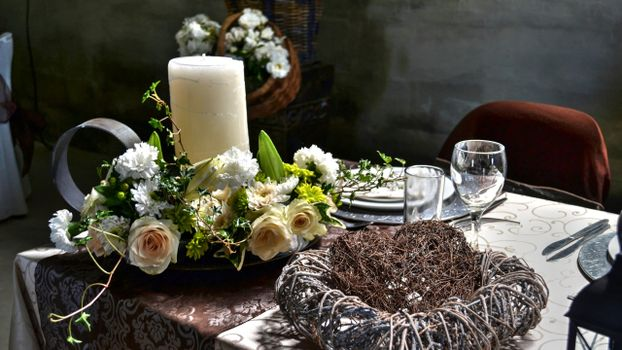 Photo free decoration, table, flowers