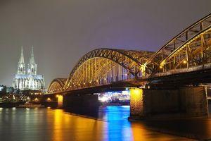 Бесплатные фото Кёльн,Германия,город,мост,Кёльнский собор