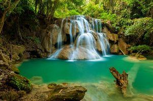 Бесплатные фото waterfall National Park,Thailand,Национальный парк,Таиланд,водопад,водоём,лес