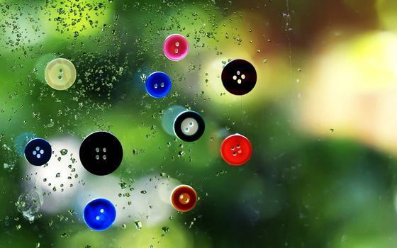 Photo free glass, surface, buttons colored