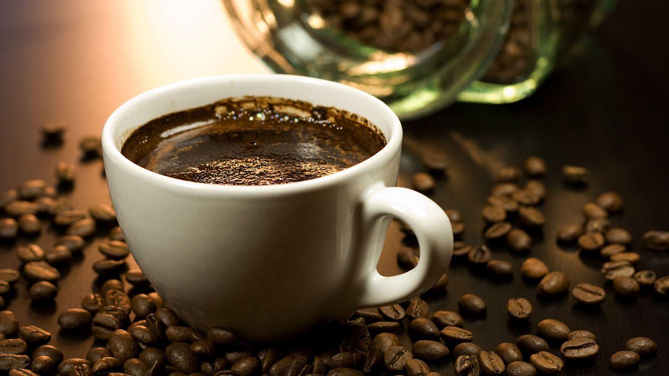 Фото бесплатно кофе, зерна, чашка, напитки