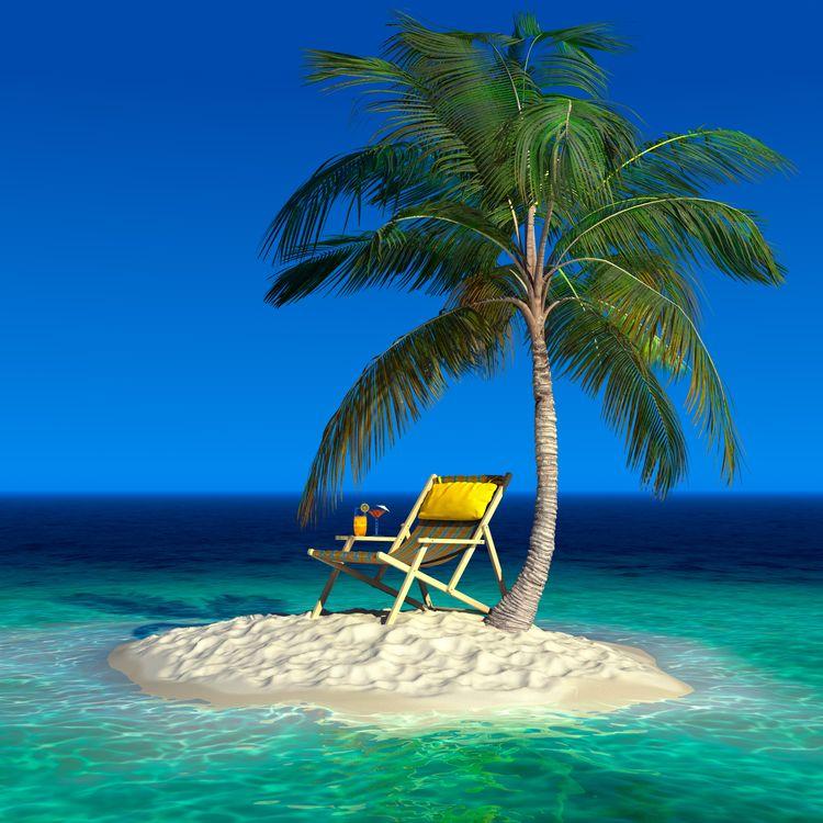 Фото бесплатно море, остров, пальма, коктейль, пейзажи