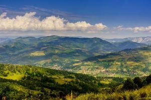 Фото бесплатно деревья, Румыния, холмы