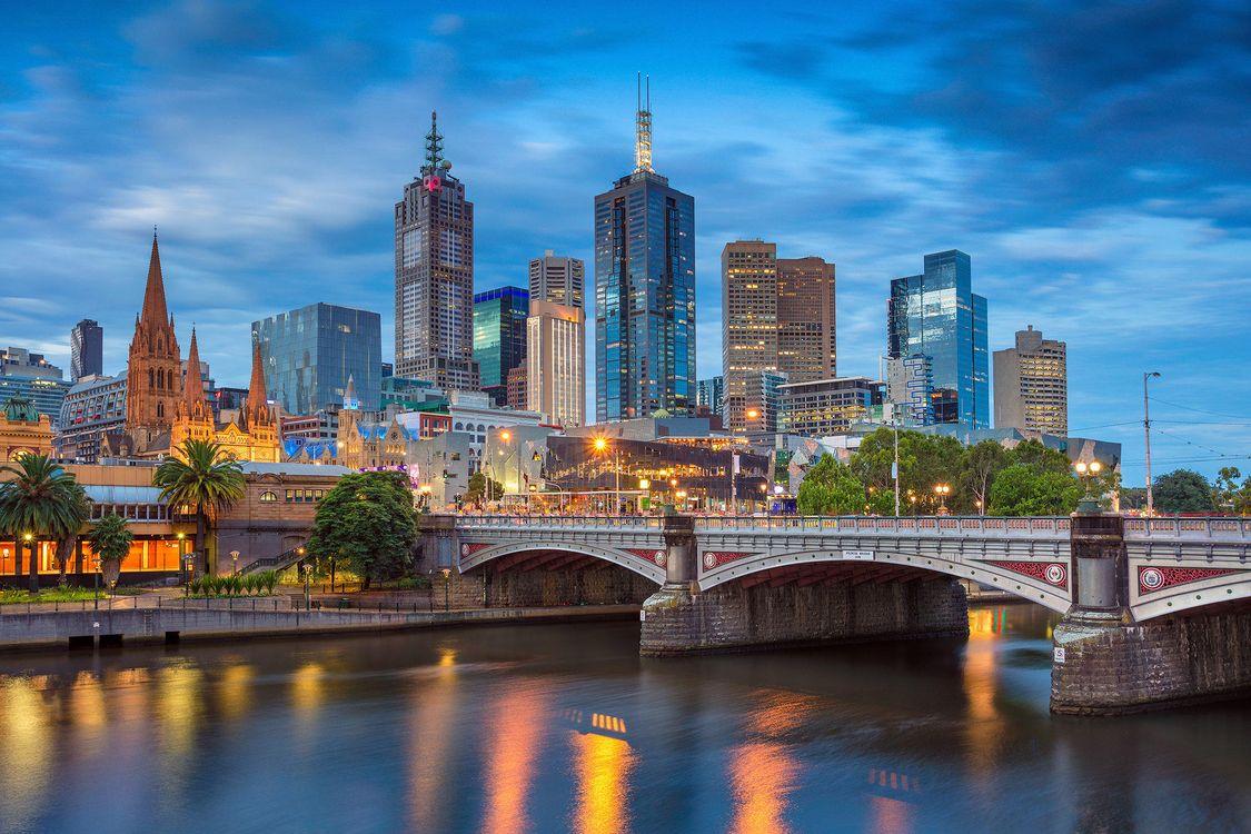 Фото бесплатно Мельбурн, Австралия, город, город