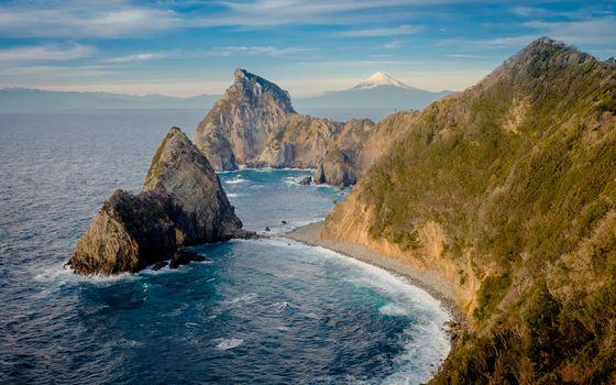 Фото бесплатно берег моря, скала, заводь