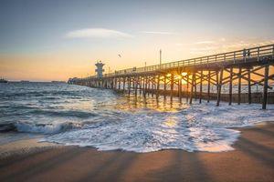 Фото бесплатно закат, море, пирс