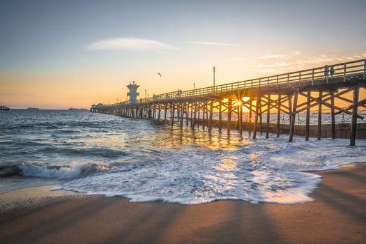 Бесплатные фото закат,море,пирс,пляж,пейзаж