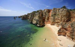 Фото бесплатно морской берег, скалы, рифы