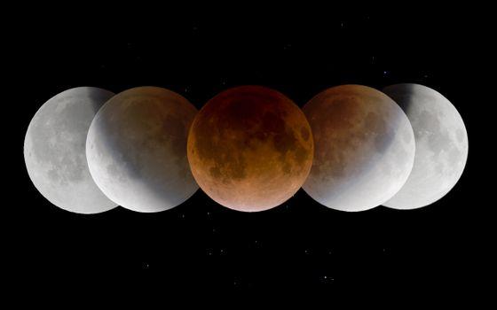 Бесплатные фото наша луна,полумесяц,месяц,затмение,фантастика