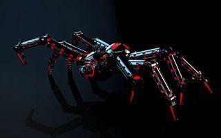 Заставки паук, механический, технологии