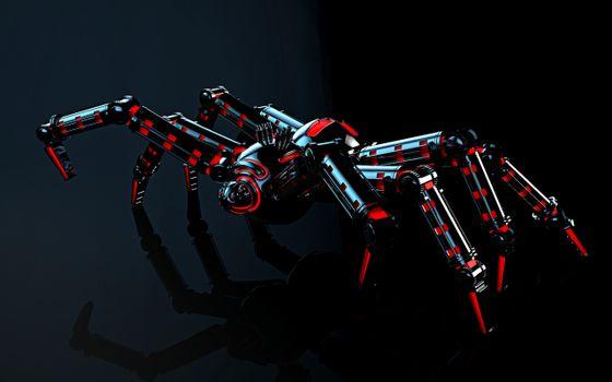 Фото бесплатно паук, механический, технологии