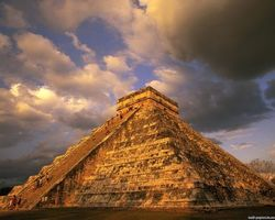 Обои піраміда, інки, америка, небо, хмари, город, пейзажи, природа