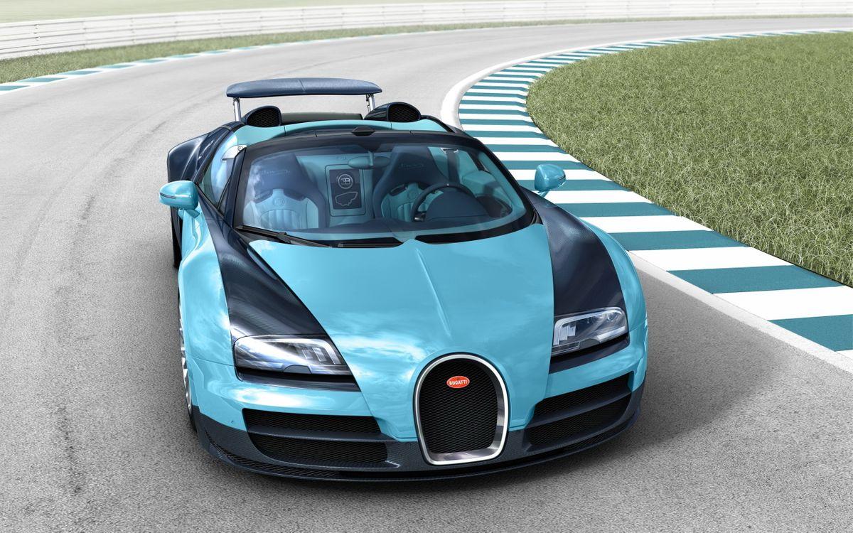 Фото бесплатно bugatti, veyron, трек, трасса, асфальт, скорость, поворот, машины, машины
