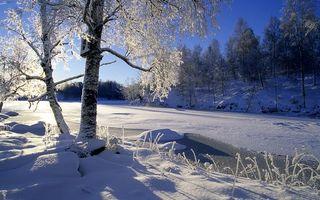 Заставки зимняя река, лед, снег