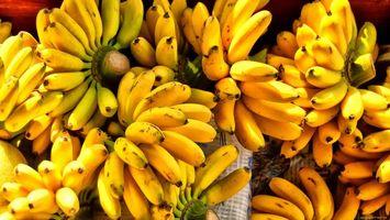 Бесплатные фото бананы, желтые, ветки, скатерть, зелень, стол, еда