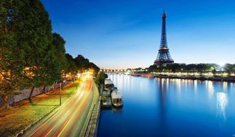 Заставки эйфелева, башня, париж, франция, небо, облака, деревья