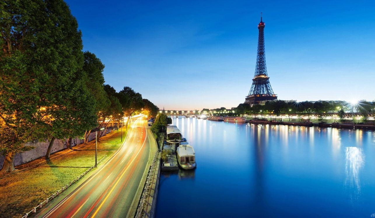 Фото бесплатно париж, франция, деревья - на рабочий стол