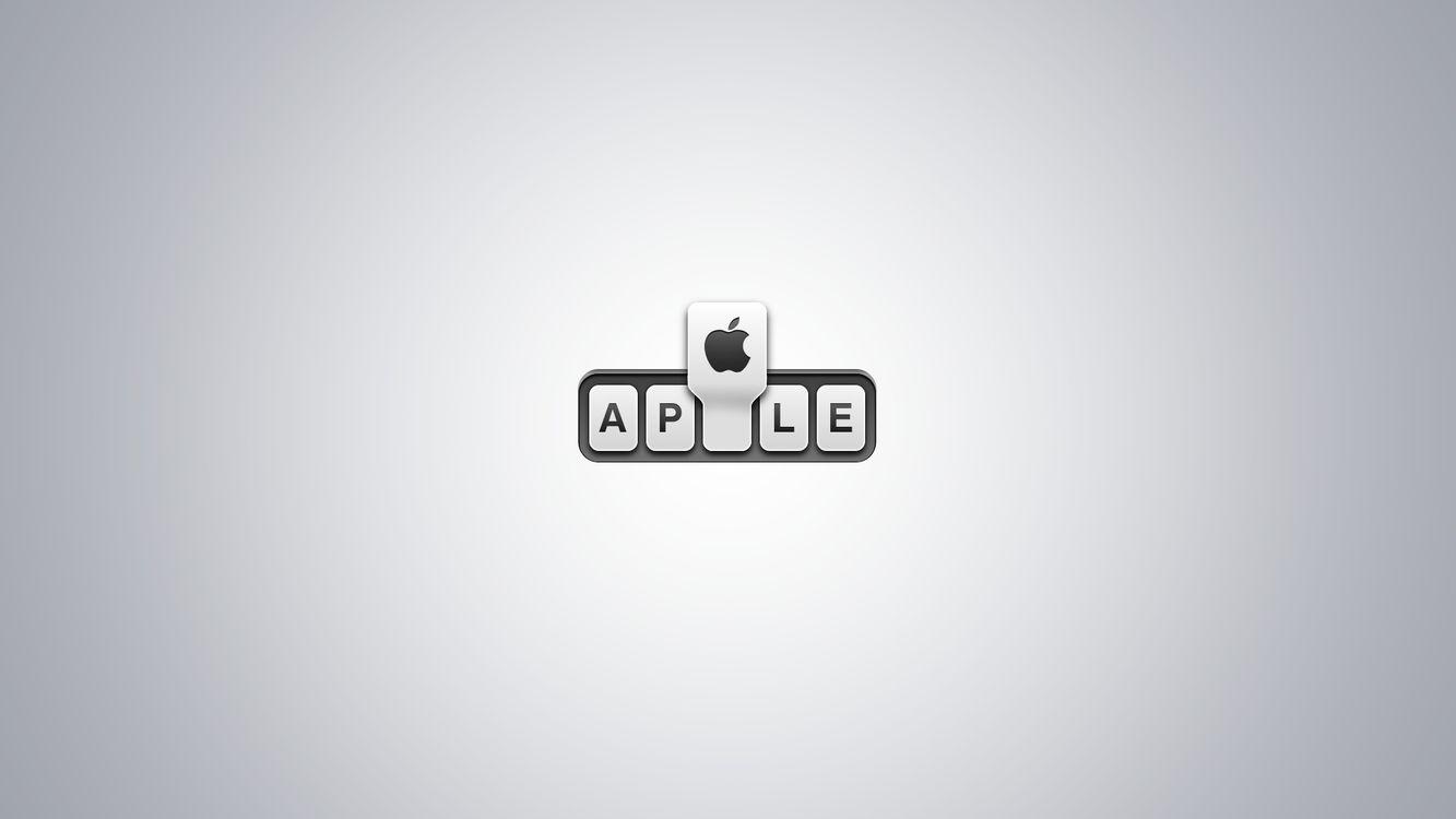Фото бесплатно apple, яблоко, буквы - на рабочий стол
