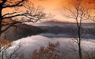 Бесплатные фото осень,озеро,деревья,листва,небо,вечер,пейзажи