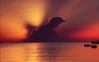 Бесплатные фото грозовая,туча,закат,солнца,океан,причал,лодки
