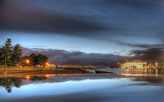 Бесплатные фото красиво, река, мост, здания, вечер, небо, город