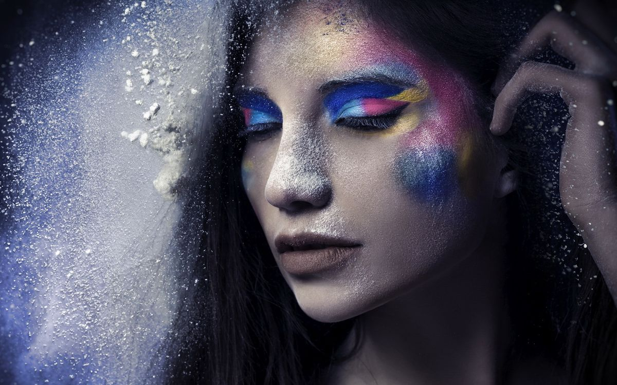 Фото бесплатно макияж, пудра, губы - на рабочий стол