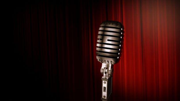 Фото бесплатно микрофон, музыка, ретро