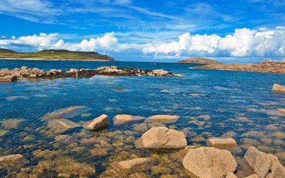 Фото бесплатно пейзажи, море, скалы